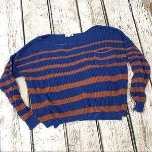 Cute boho cropped sweater - medium